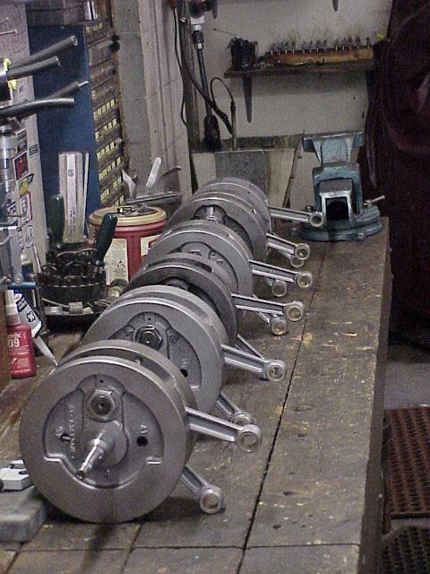 bench full of flywheels finished