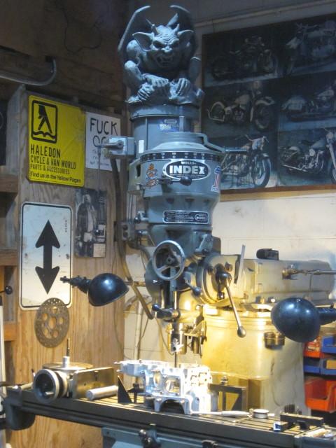 the evil well-index milling machine originally from Haledon Cycle SaddleBrook, NJ