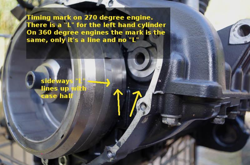 timing marks 865 triumph bonneville engine