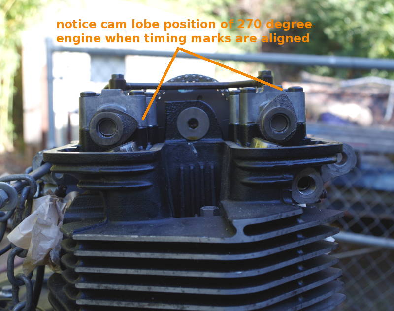 cam position of 270 degree engine