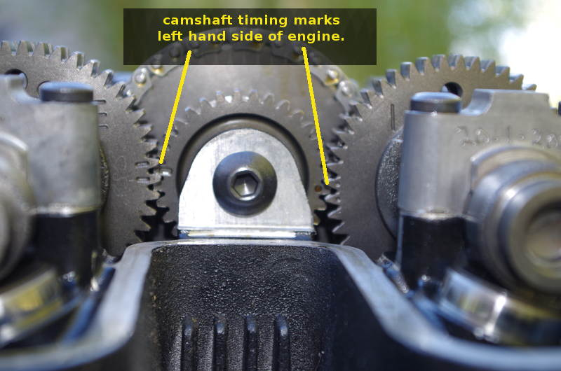 difference in timing marks on camshaft