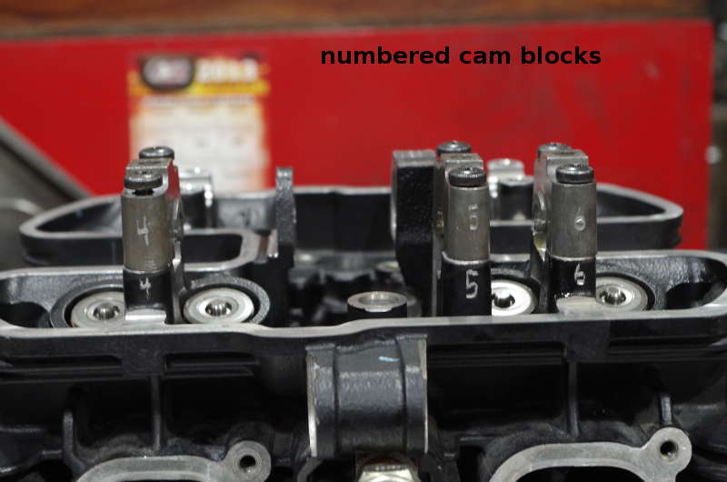 number cam blocks. do not mix up.