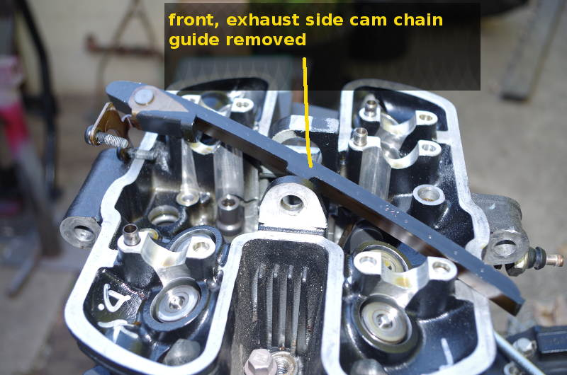 front cam chian guide removed