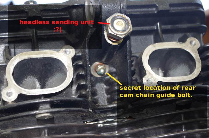 hidden rear cam chain bolt