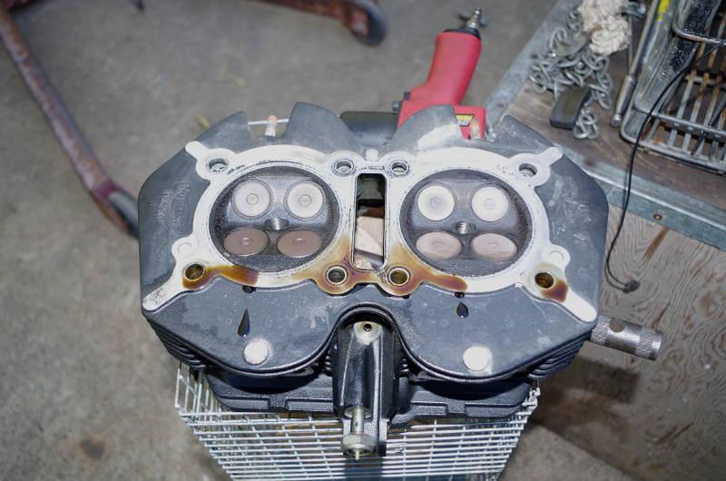 underside of cylinder head