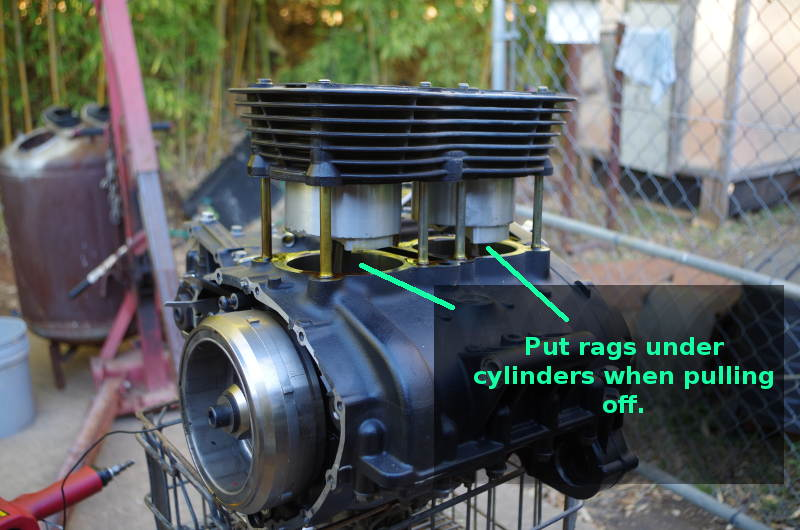 removing cylinders