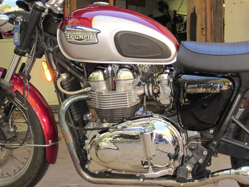 2005 red Bonneville